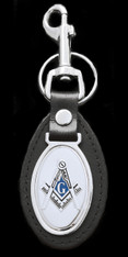 Mason Masonic Leather Key Chain