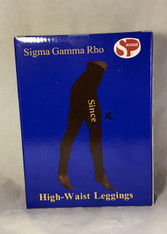 Sigma Gamma Rho Sorority Yoga Legging- Black