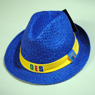 Order of the Eastern Star OES Fedora Style Straw Hat- Blue