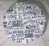 Zeta Phi Beta Sorority Shower Cap- White