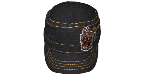 Alpha Phi Alpha Fraternity Captain's Hat-Founding Year-Black