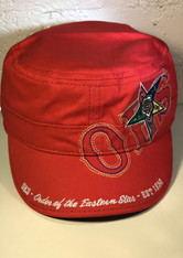 Order of the Eastern Star OES Captain's Hat- Red