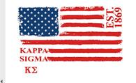 Kappa Sigma Fraternity Comfort Colors Shirt- American Flag