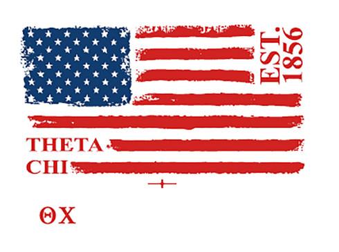 Theta Chi Fraternity Comfort Colors Shirt- American Flag
