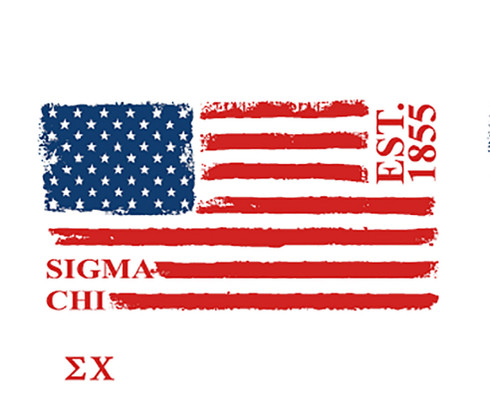 Sigma Chi Fraternity Comfort Colors Shirt- American Flag