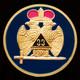 Mason Masonic 33rd Degree Auto Emblem