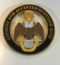 Mason Masonic 33rd Degree Cut Out Car Emblem