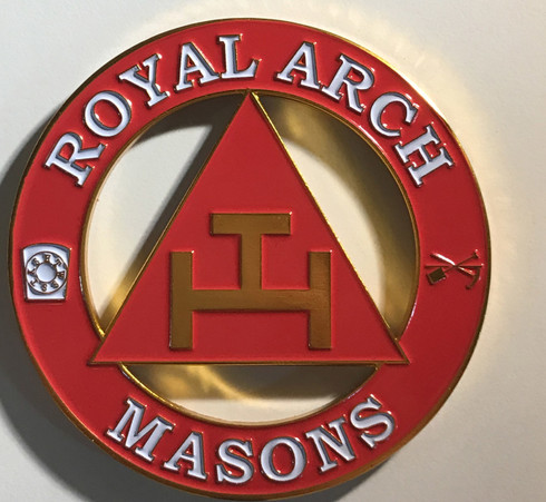 Mason Masonic Triple Tau Cut Out Car Emblem