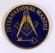 International Mason Masonic Auto Emblem