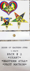 Order of the Eastern Star OES Peel and Stick Patches- Pack #2