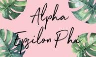 Alpha Epsilon Phi AEPHI Sorority Flag- Palm