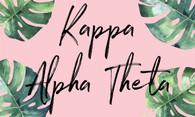 Kappa Alpha Theta Sorority Flag- Palm