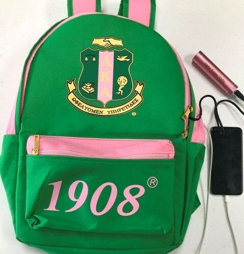 Alpha Kappa Alpha AKA Sorority Backpack