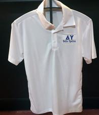 Delta Upsilon DU Fraternity Dri-Fit Polo- White