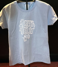 Alpha Delta Pi ADPI Sorority Shirt- English Spelling