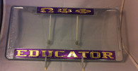 "Omega Psi Phi Fraternity ""Educator"" License Plate Frame"