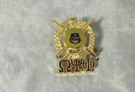 Omega Psi Phi Fraternity Crest with 3 Greek Letter Lapel Pin
