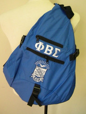 Phi Beta Sigma Fraternity Sling Shoulder Bag Backpack