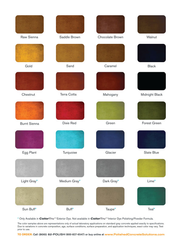 Colortru interior polishing dye - Interior concrete floor stain colors ...