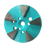 "5 Seg 3"" Metal Grinding Disk - aggressive grind with subtle scratch"