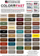 Metzger/ McGuire Colorfast Color Chart