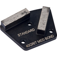 Standard 2 Segment Grinding Plate.  3-Hole Attachment System