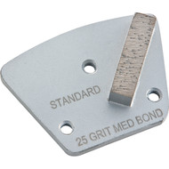 Standard 1 Segment Grinding Plate.  3-Hole Attachment System