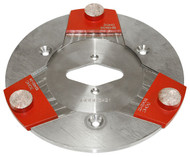 "The reusable 9"" QuickChange Plate - single button trap shown"