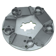 "Shown is the Lavina 9"" Plate with 5 Holders"
