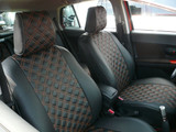 PVC Full Quilted Seat Covers - Nissan Cube - Nissan Cube/Clazzio Seat Covers