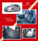 PVC Full Quilted Seat Covers - Honda Fit 06-08 - Honda Fit/Honda Fit 06-08/Clazzio Seat Covers