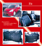 PVC Full Quilted Seat Covers - Honda Fit 09-12 - Honda Fit/Honda Fit 09+/Clazzio Seat Covers