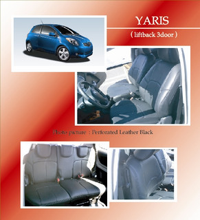 Leather Insert Seat Covers - Toyota Yaris - Toyota Yaris/Clazzio Seat Covers