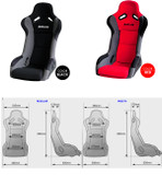Buddy Club Racing Spec Bucket Seat - Honda Fit/Honda Fit 06-08/Interior/Interior Accessories