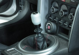 Perrin Shift Knob - Black/Silver - Slim or Fat- Scion FR-S