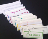 "Like a Boss Vinyl Sticker - 1.5"" x 4"""