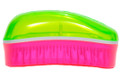 Dessata - Coconut Scented Mini Detangling Brush - Lime/Fuchsia