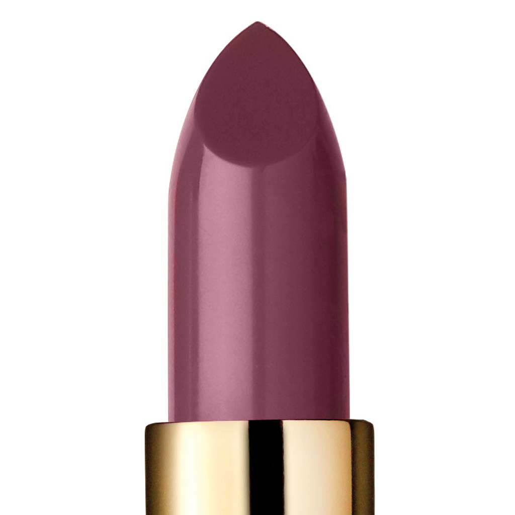 Closeup of Serendipity, a dusty pink lipstick.