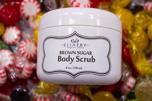 Organic Cocoa Butter and Brown Sugar body scrub from Elixery
