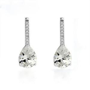 Teardrop Crystal Accent Earrings www.crownstefana.com