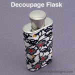 Decoupage Flask DIY Crafts Project