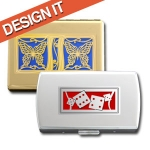 Customize Your Metal Wallet or Cigarette Case