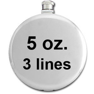 Round Flasks Engravable with Up to 3 Lines