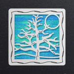 Silver - Aqua Iridescent