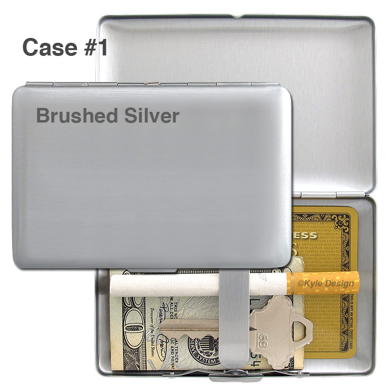 Metal wallet #1 for 7 credit cards or 8 king cigarettes.