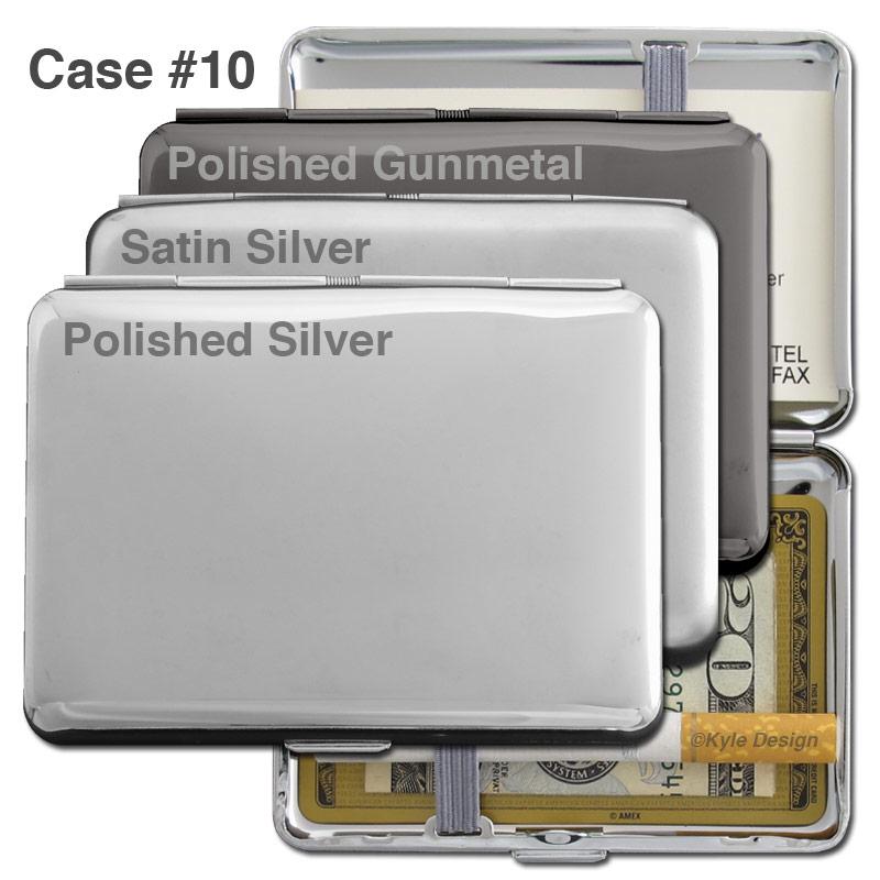 Metal wallet #10 for 7 King cigarettes or 12 credit cards.