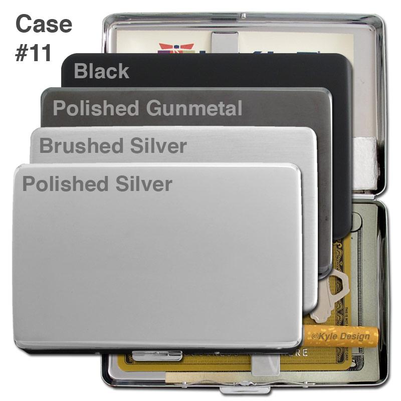Metal wallet #11 for 16 100mm cigarettes or 15 credit cards.