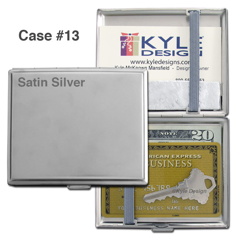 Metal wallet #13 for 8 King cigarettes or 14 credit cards.