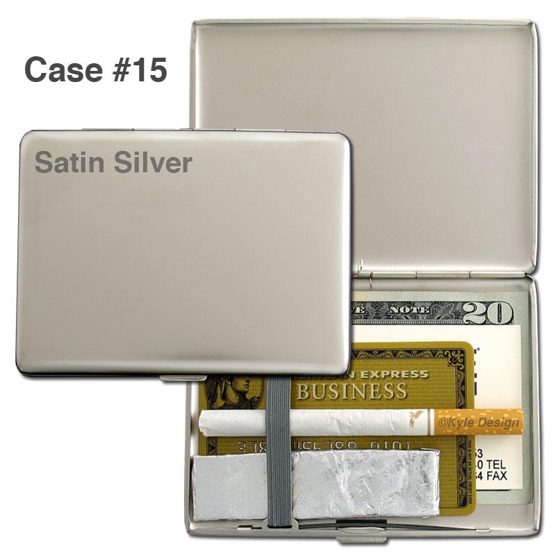 Metal wallet #15 for 100mm cigarettes or 10 credit cards.