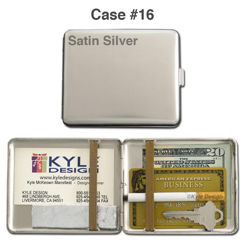 Metal wallet #16 for 16 King cigarettes or 18 credit cards.